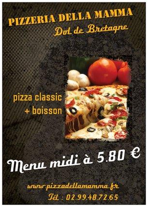 Brochure pizzeria della mamma